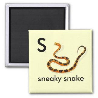 S - serpiente disimulada imán cuadrado