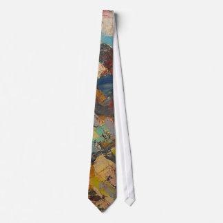 S Shano Color Mountain Slice 12 Neck Tie