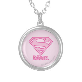 S-Shield Mom Silver Plated Necklace