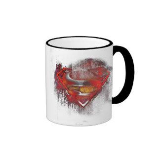 S-Shield Painted Ringer Coffee Mug