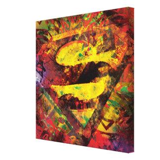 S-Shield S Grunge Gallery Wrapped Canvas