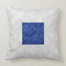 S Sierra Watercolor Nautical Signal Maritime Flag Throw Pillow