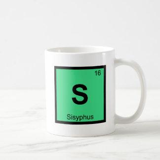 S - Sisyphus Greek Chemistry Periodic Table Symbol Classic White Coffee Mug