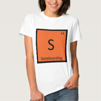 S - Skateboarding Sports Chemistry Periodic Table Tee Shirts