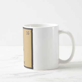 S - Sliders Burger Chemistry Periodic Table Symbol Coffee Mug