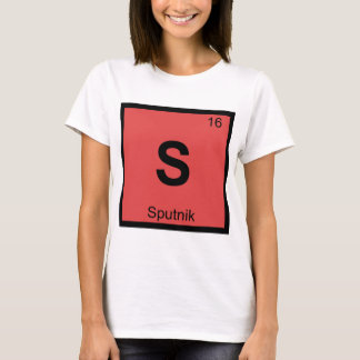 S - Sputnik Russian Space Chemistry Periodic Table T-Shirt