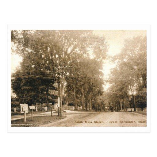 S. St. principal, gran Barrington, vintage 1926 de Tarjetas Postales