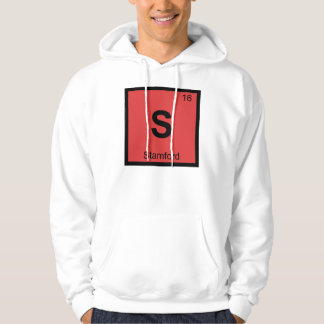 S - Stamford Connecticut Chemistry Periodic Table Hoodie
