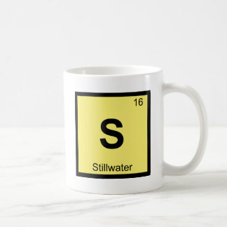 S - Stillwater Oklahoma Chemistry Periodic Table Classic White Coffee Mug
