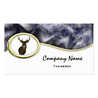 S Style Blue Camouflage  Taxidermy Business Cards