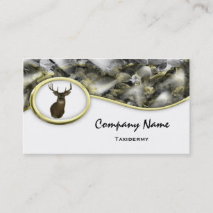 Taxidermy business cards templates zazzle s style camouflage deer taxidermy business cards colourmoves
