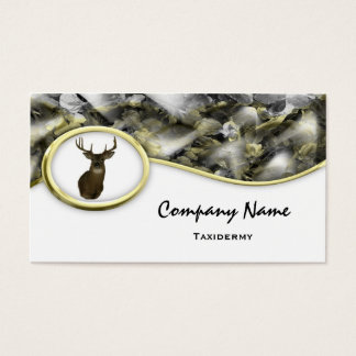 S Style Camouflage Deer Taxidermy Business Cards
