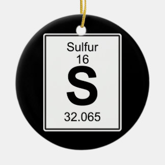 S - Sulfur Ceramic Ornament