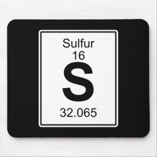 S - Sulfur Mouse Pad