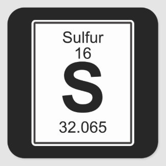 S - Sulfur Square Sticker
