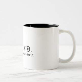 S.T.A.N.D., Soldiers That Are Not Defeated Two-Tone Coffee Mug