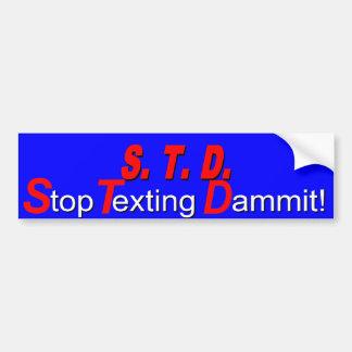 S.T.D.s Bumper Sticker