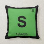 S - Tabla periódica de la química de Seattle Washi Cojin