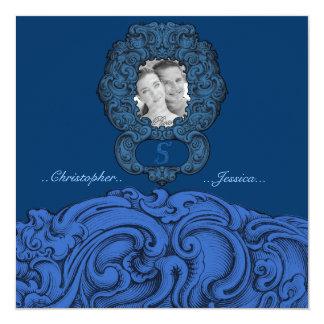 S - The Falck Alphabet (Blue) (Wedding) Card