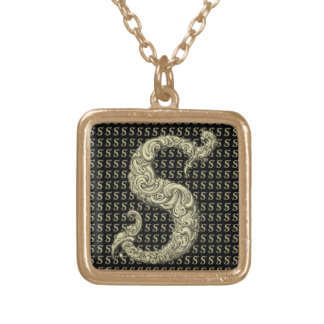 S - The Falck Alphabet (Golden) Gold Plated Necklace