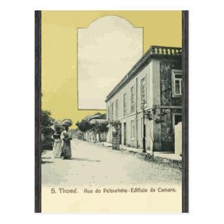 S. Thome. Rua Do Pelourinho- Edificio Da Camara, V Postcard