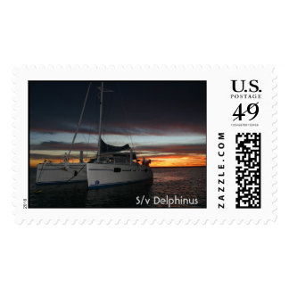 S/v Delphinus Sunset Postage Stamps