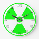 #s verdes y blancos del símbolo radiactivo de la r reloj