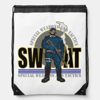 S.W.A.T. Attitude Drawstring Backpack