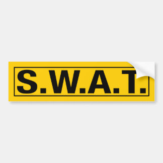 """S.W.A.T."" BUMPER STICKER"