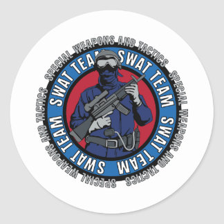 S.W.A.T. Team Classic Round Sticker