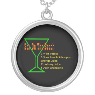 S*x On The Beach Silver Plated Necklace