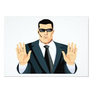 SA7 SECRET AGENT BODYGUARD COMICS CARTOON DARK MOB CARD