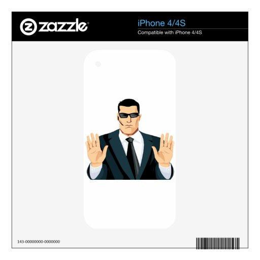 SA7 SECRET AGENT BODYGUARD COMICS CARTOON DARK MOB iPhone 4S SKIN