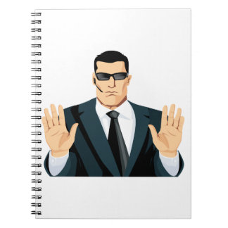 SA7 SECRET AGENT BODYGUARD COMICS CARTOON DARK MOB SPIRAL NOTE BOOK