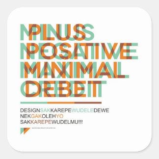 SA.0294 - Pegatinas negativos positivos Pegatina Cuadrada