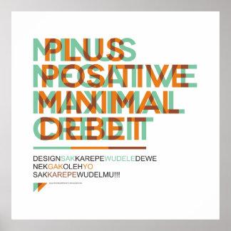 SA.0294 - Poster grande negativo positivo Póster