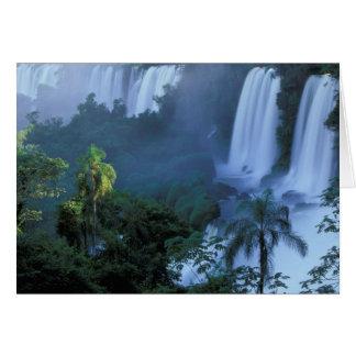 SA, Brazil, Parana State; Iguacu NP, Iguacu Card