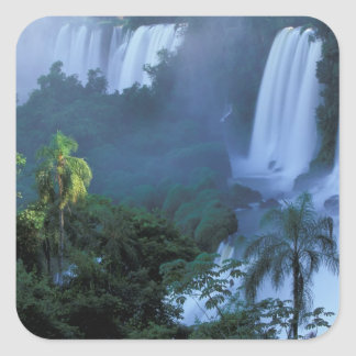 SA, Brazil, Parana State; Iguacu NP, Iguacu Square Sticker