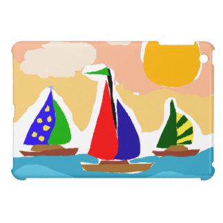 SA- Colorful Sailboat Primitive Art iPad Mini Case