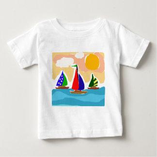 SA- Colorful Sailboat Primitive Art T-shirt