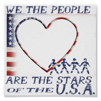 SA FLAG - WE THE PEOPLE ARE THE STARS POSTER