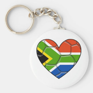 SA Heart,l love soccer ,south africa Basic Round Button Keychain