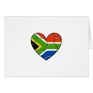 SA Heart,l love soccer ,south africa Card