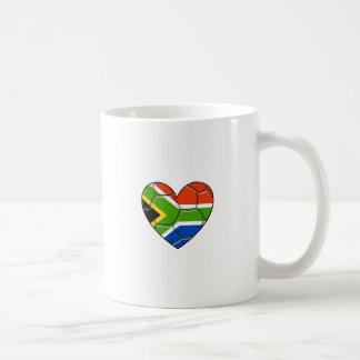 SA Heart,l love soccer ,south africa Coffee Mug