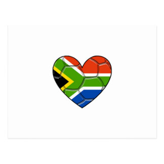 SA Heart,l love soccer ,south africa Postcard