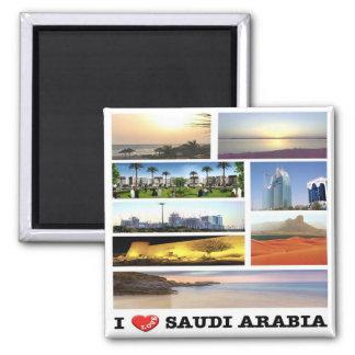 SA - La Arabia Saudita - amor de I - mosaico del Imán Cuadrado