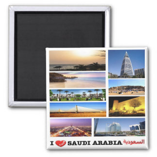 SA - La Arabia Saudita - amor - mosaico del Imán Cuadrado