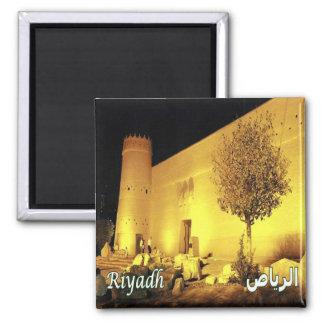 SA - La Arabia Saudita - Riyagh en la noche Masmak Imán Cuadrado