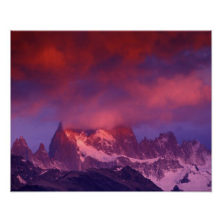 SA, la Argentina, parque nacional del Los Glaciare Póster
