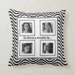"Sa tuwina'y naaalala ka... ""black and white waves"" throw pillow"